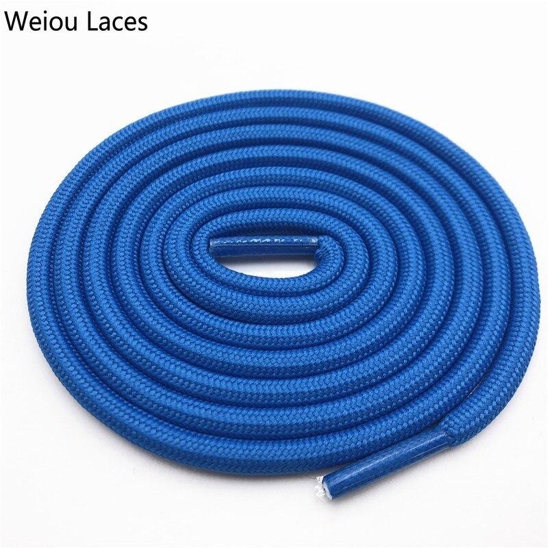 Weiou 0,5 см круглые спортивные шнурки из полиэстера толстые походные шнурки одежда веревка для скалолазания шнурки для ботинок Детские мужские - Цвет: 2701Sky Blue