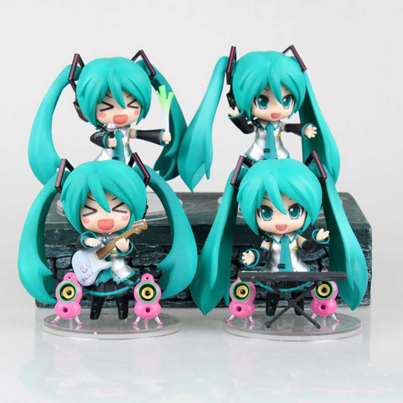 Japan Anime 10cm Cute Nendoroid Vocaloid Hatsune Miku Collectible Action Figure Model Collection Miku Model Gifts Doll Toys купить