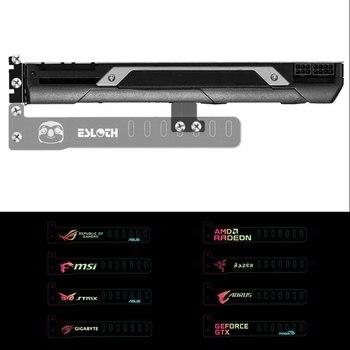 El más nuevo soporte inteligente RGB cambiable LED para ordenador, caja principal, tarjetas gráficas, soporte personalizado, Marco, componentes de la tarjeta de visualización (18 cm)