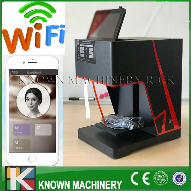 3D Coffee Printer Latte Art Printing Edible Food Coffee Printer Phone Scan QR Code Directly With Free Shipping To Door Serve 2