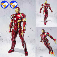 NEW S.H. Figuarts Iron Man Mark XLVI Action Figure 1/6 Scale Painted Figure IronMan Mk46 Marvels Avengers Civil War Toy Brinqued