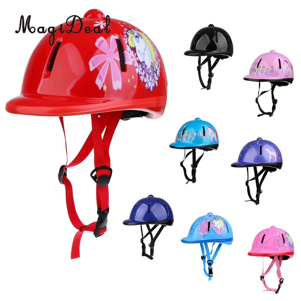 MagiDeal Children Kids Adjustable Horse Riding Hat/Helmet Head Protective Gear Equestrain Safety Hat Equipment - Various Colors
