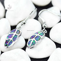 Promotion Fashion Classic PINK opal First class products Silver Plated Free shipping Earrings E4091