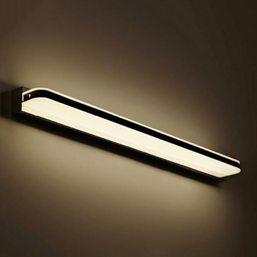 ФОТО Straight style 23cm 3W LED Modern Acrylic Wall Lamp Bathroom Mirror Light , Stainless Wall Sconce , Led Light Factory