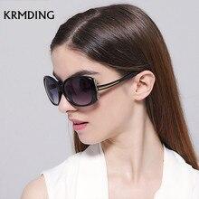 KRMDING 2019 retro big box sunglasses womens brand designer gradient lens driving UV400 Oculos De Sol Feminino
