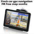 7 polegada HD suport carro navegador gps navigation system 800 MHZ tela de toque fm, mp3, video player,. wince6.0 sem bluetooth av em