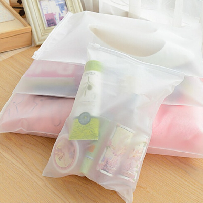 New Swimming Bags Matte Frosted Travel Pouch Swimming Bag Sealed Waterproof Transparent Ziplock Bag For Clothing Bras Shoes