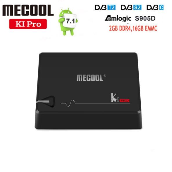 MECOOL KI PRO Android 7.1 TV Box KI pro Amlogic S905D Quad Core 64 bit DVB-T2 DVB-S2 DVB-C 2G 16G Set Top Box CCAM NEWAMD k1 dvb s2 android 4 4 2 amlogic s805 quad core tv box