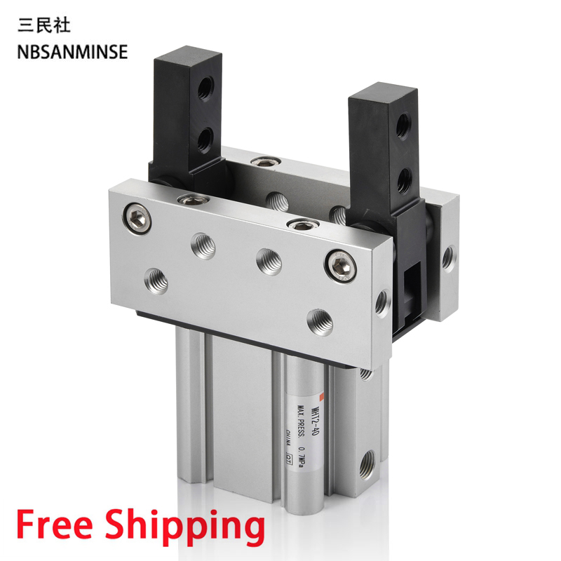Air Gripper Pneumatic Gripper Toggle Cylinder MHT2 SMC Type Compress Air Pneumatic Parts 0.1 to 0.6 MPa High Quality Sanmin high quality double acting pneumatic air cylinder gripper mhc2 10d smc type angular style aluminium clamps