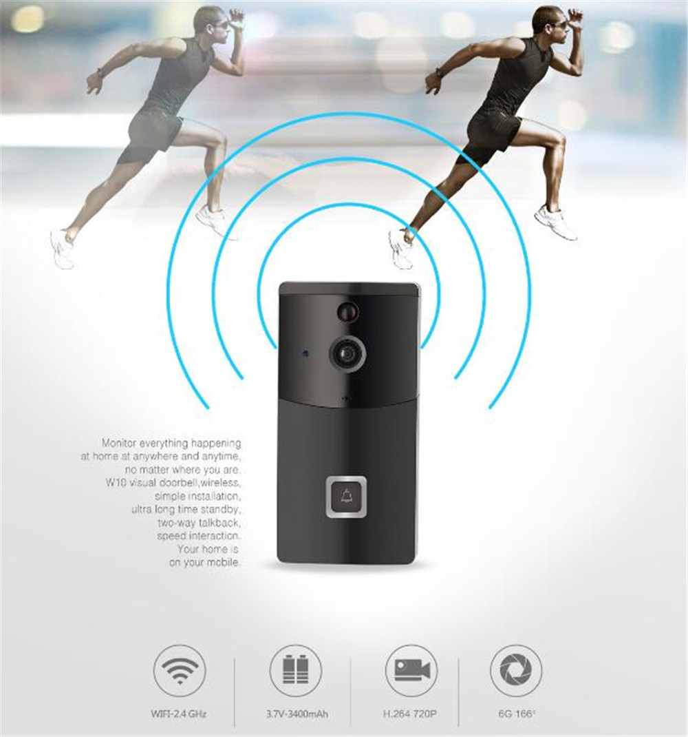 Купить с кэшбэком Wireless WIFI 720P Doorbell  166 Degree Wide Angle Video Door Phone