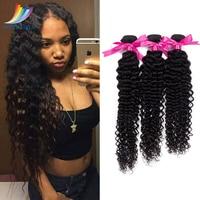 3 Bundles Malaysian Deep Curly Human Hair Extension Natural Color 100% Virgin Human Hair 10 30 Inch Available Free Shipping