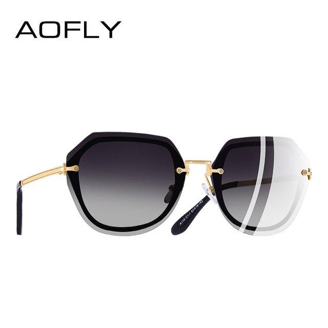58af77d2c415e Aofly Marca Diseño mujeres Gafas de sol vintage gradient Polarized Sol gafas  interior Marcos estilo sombras