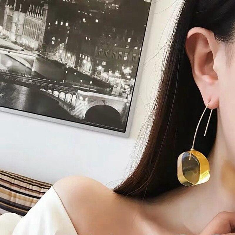 Купить mengjiqiao новые корейские цветные круглые акриловые длинные