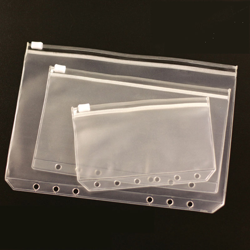A6 Leaf-Pouch Files-Holder Filing-Organizer Standard A5 Zipper PVC With Self-Styled Product-Binder