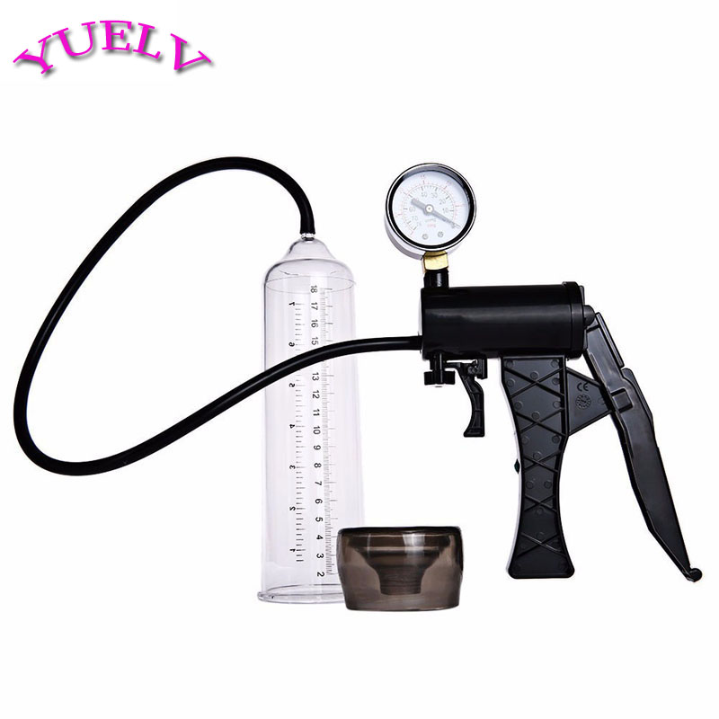 YUELV Male Hand Drive Penis Pump Enlarger Enlargement With Master Pressure Gauge Extension For Male Help Penis Extender Sex Toys image