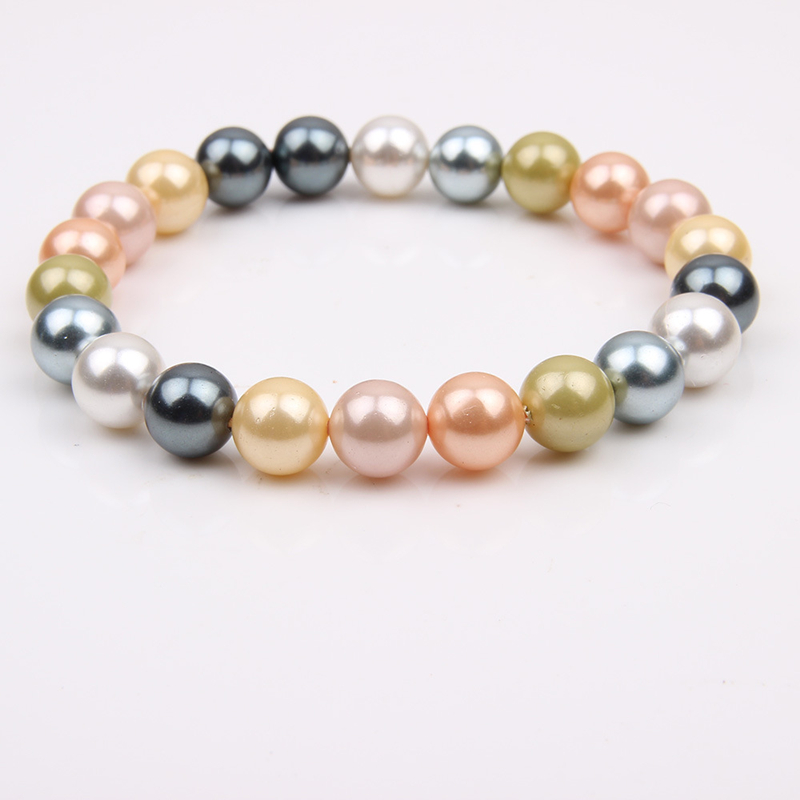 8mm 10mm Mix Color Natural Freshwater Pearl Bracelet for Women White Pink Blue Real Pearl Bracelet for Women Fashion Jewelry
