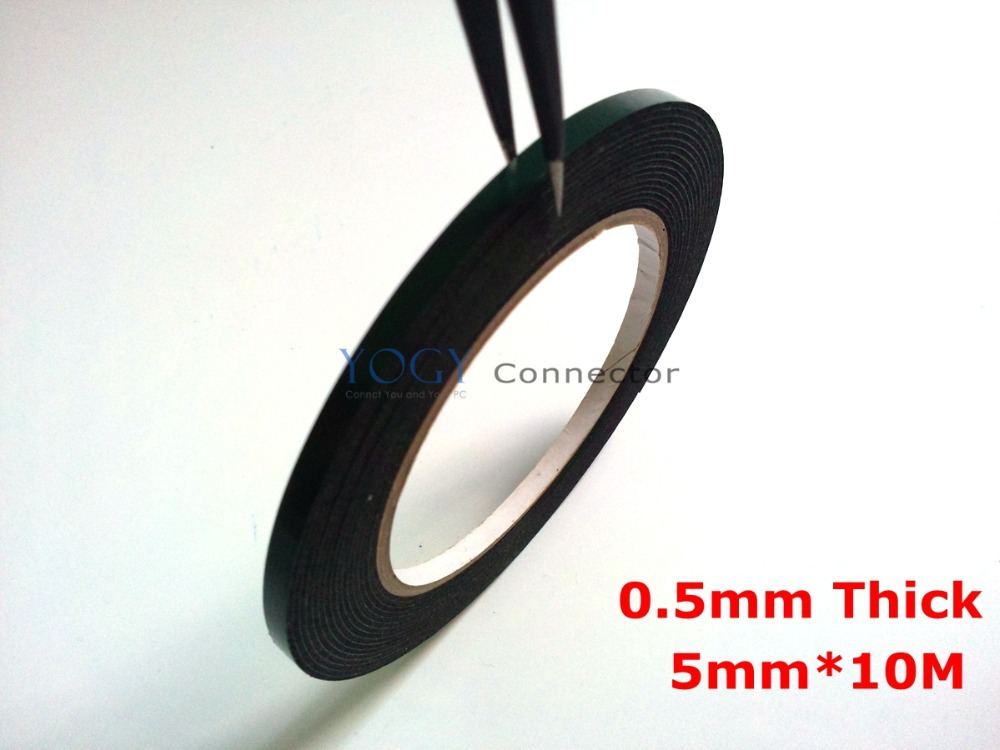 Double Sides Adhesive Tape Strong Stick 0.5mm Thickness 5mm Width Black Used For Phone Dustproof Maintenance LED light