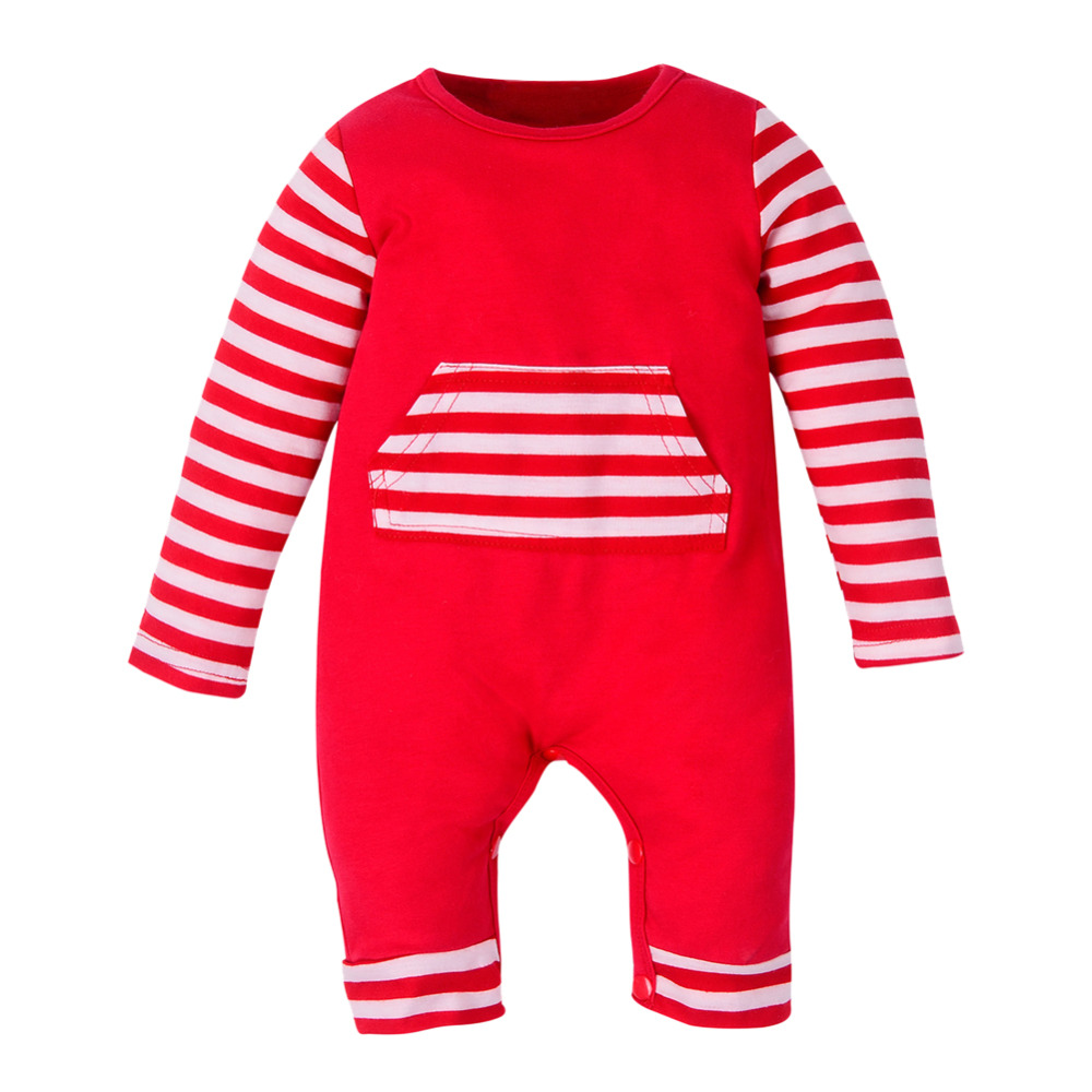 Newborn Baby Girls Boys Striped Long Sleeve Clothes Infant Kids One Piece Romper Jumpsuit Autumn Children Outfits Costumes 0-2Y cotton infant romper newborn overall kids striped fashion clothes autumn baby rompers boys girls long sleeves jumpsuit