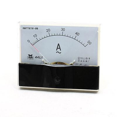 Пластиковый Корпус AC 0-50A Монтажа в Панель Амперметр Измерьте Tool 44L1