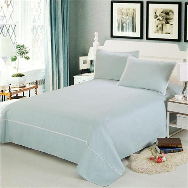 European Style 100% Cotton Bed Sheet Four Seasons Plaid Flat Sheets Fahion  Luxury Hotel Bedding