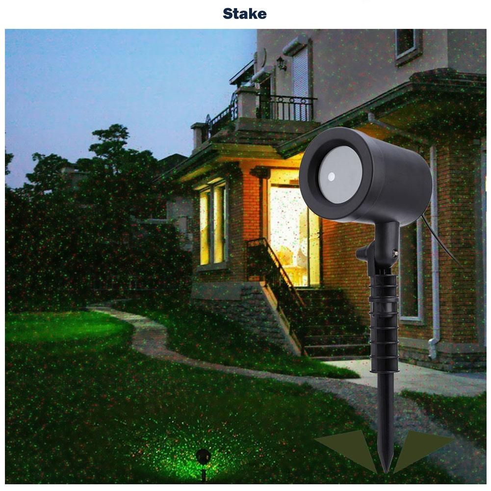 LumiParty Star Shower Laser-projected Light DJ Disc Xmas Outdoor Garden Lawn Party Lighting