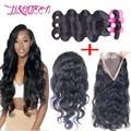 360 Lace Frontal With Bundlesn 7A Mlaysian Virgin Hair With Frontal 360 Lace Frontal Closure Bbody Wave With Bundles Human Hair