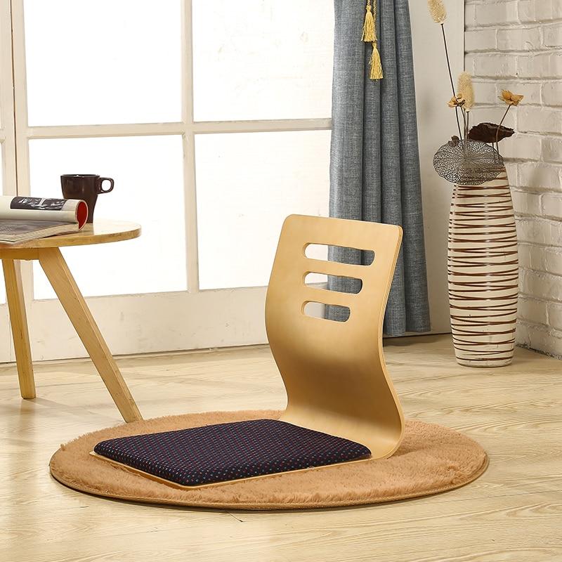 chaise en bois zaisu meuble oriental moderne sans pieds tatami pour salon restaurant et cafe lot de 4 pieces