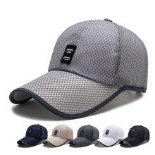 Hombres gorra de béisbol Snapback de verano seco Mesh gorra de béisbol Sun  Hat Breathable sombreros 061486fde3a