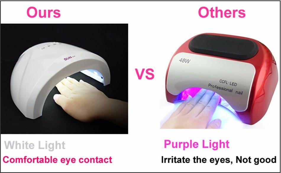 Original Sunone Nail Dryer Machine 48W UV Lamp 5S 30S 60S Set 365+405nm LED White Light For Nail Polish Nail Gel Nail Art Tools