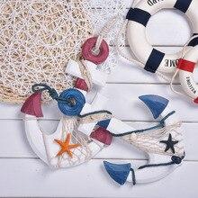 New Fashion Handmade Mediterranean Family Adorment Life Buoy Crafts Living Room Decoration For Wall Nautical Home Decor