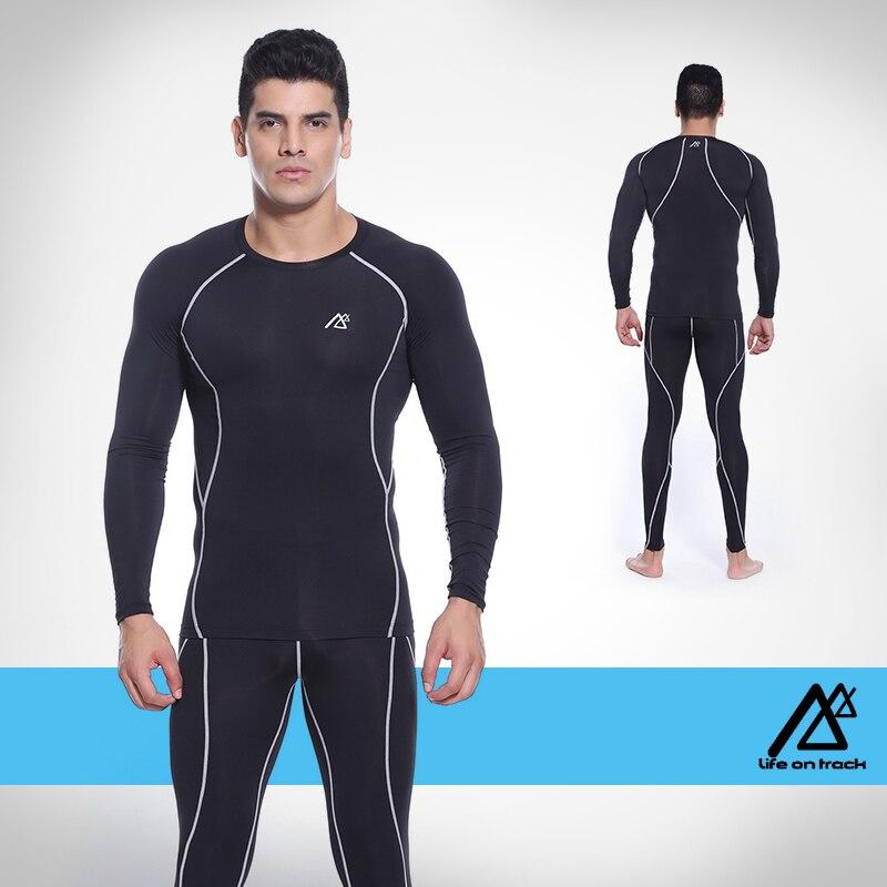 PRO фитнес comepression базовый слой для мужское трико одежда мужская Баскетбол футбол Бег одежда - 5