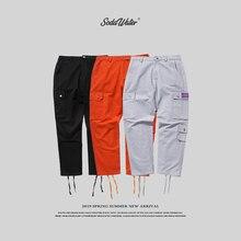 Bottiglia di ACQUA di SODA Marca Cargo Pantaloni da Uomo Hip Hop Casual Tasca Dei Pantaloni di Modo Streetwear Hip Hop Pantaloni pantaloni 8864W