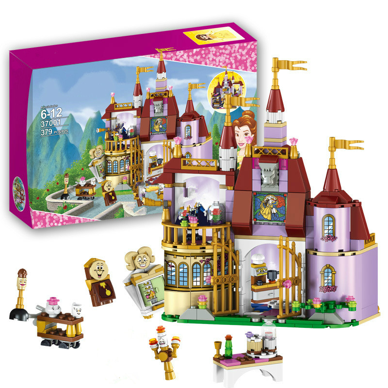 37001 Beauty and The Beast Princess Belle's Enchanted Castle Building Blocks Girl Kids Toys Compatible with blocks princess gift beauty and the beast teacher s book книга для учителя