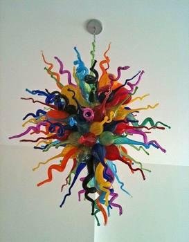 현대 홈 장식 다채로운 손으로 불어 유리 스타일 샹들리에 거실 아트 데코