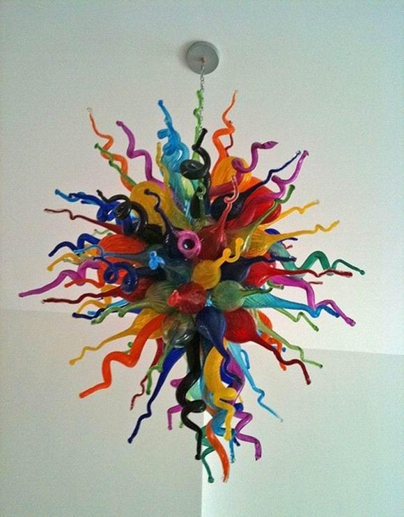Lustre en verre soufflé à la main coloré de Style de décoration à la maison moderne pour l'art déco de salon