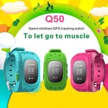 Neue Q50 Smart uhr Baby Kind Geschenk Armbanduhr GSM GPRS GPS Locator Tracker Anti-verlorene Smartwatch Sechs Farben Für IOS & Andriod telefon