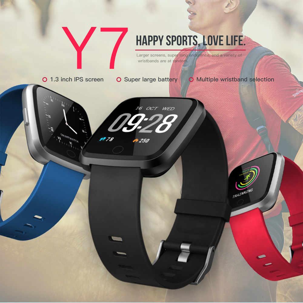 2426353c5ca9 Reloj inteligente Y7 inteligente reloj Bluetooth Corazón de Color de  pantalla podómetro para Android para iOS