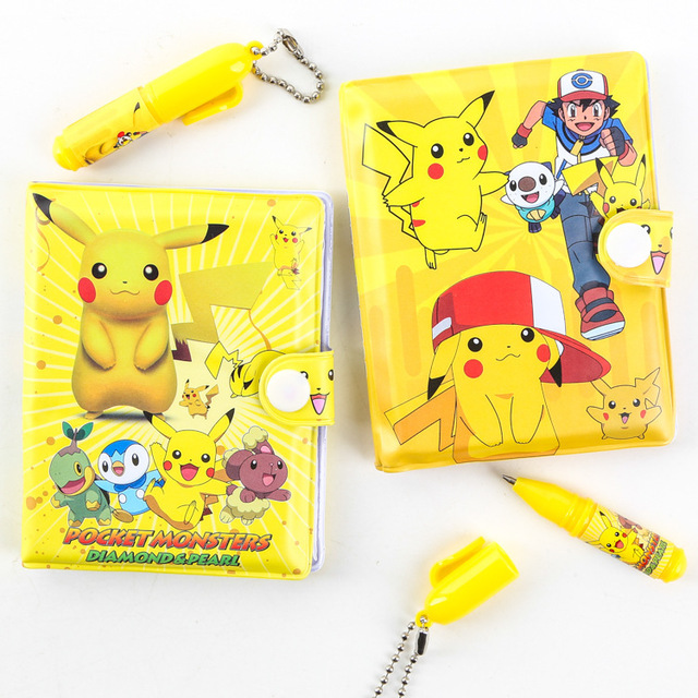 TOOL 2016 New Cartoon Anime Pokemon Pikachu Kids School Supplies Stationery Notebook Ballpoint