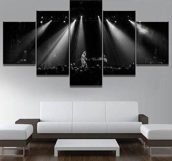 בד ציור 5 Piece ליל פוסטר מוסיקה פיפ Cuadros בד אמנות קיר קיר בית תפאורה לסלון מתנה ייחודית תמונה