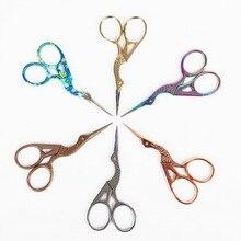 1 шт., прочные ножницы из нержавеющей стали в стиле ретро, для макияжа, для вышивания ногтей, ножницы для ног, роговые ножницы, для красоты, для макияжа, швейные инструменты