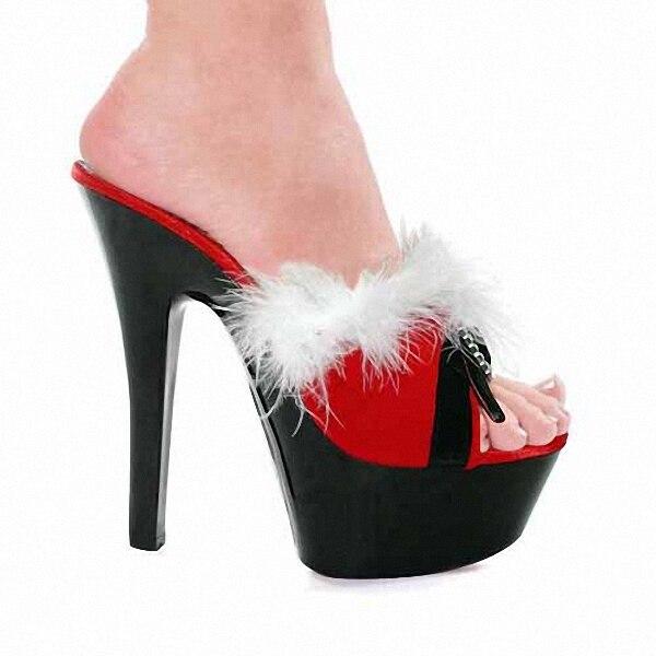 Cm Baile Zapatos Sandalias Noche Rojo Muestra Las Abiertas Los Dj Popularidad Espectáculo Euramerican Para Atractivo 15 Mujeres Plumas De CHYdFdx