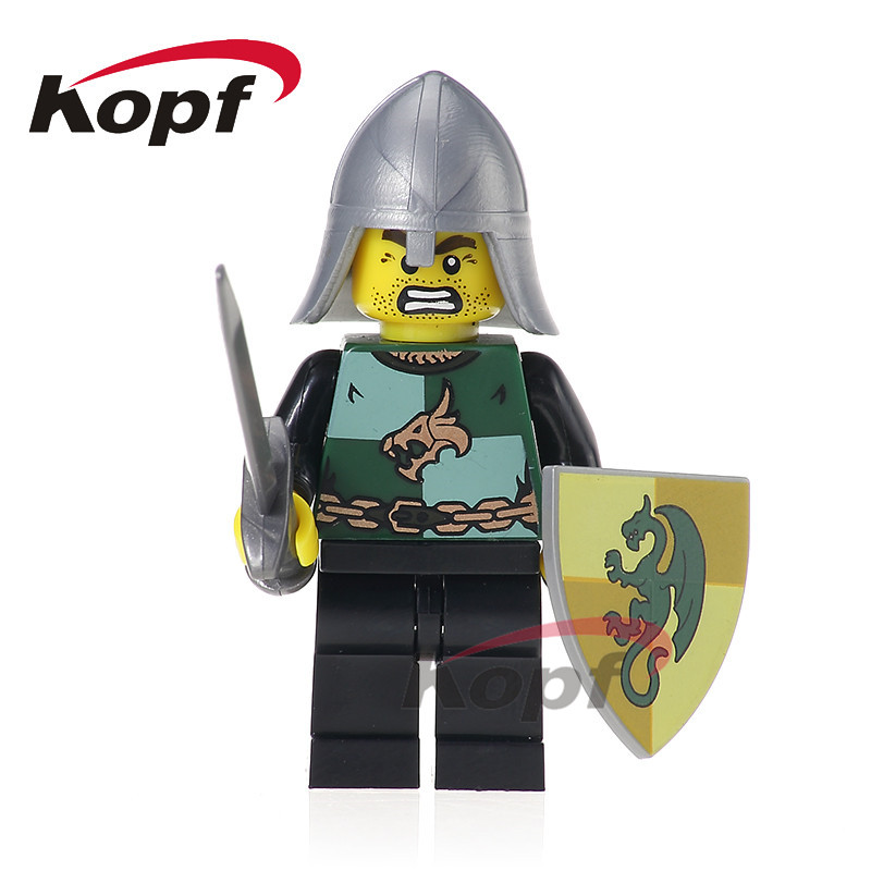 Single Sale Super Heroes Medieval Rome Dragon Herioc Knight Egypian Warrior Bricks Building Blocks Children Gift Toys XH 522