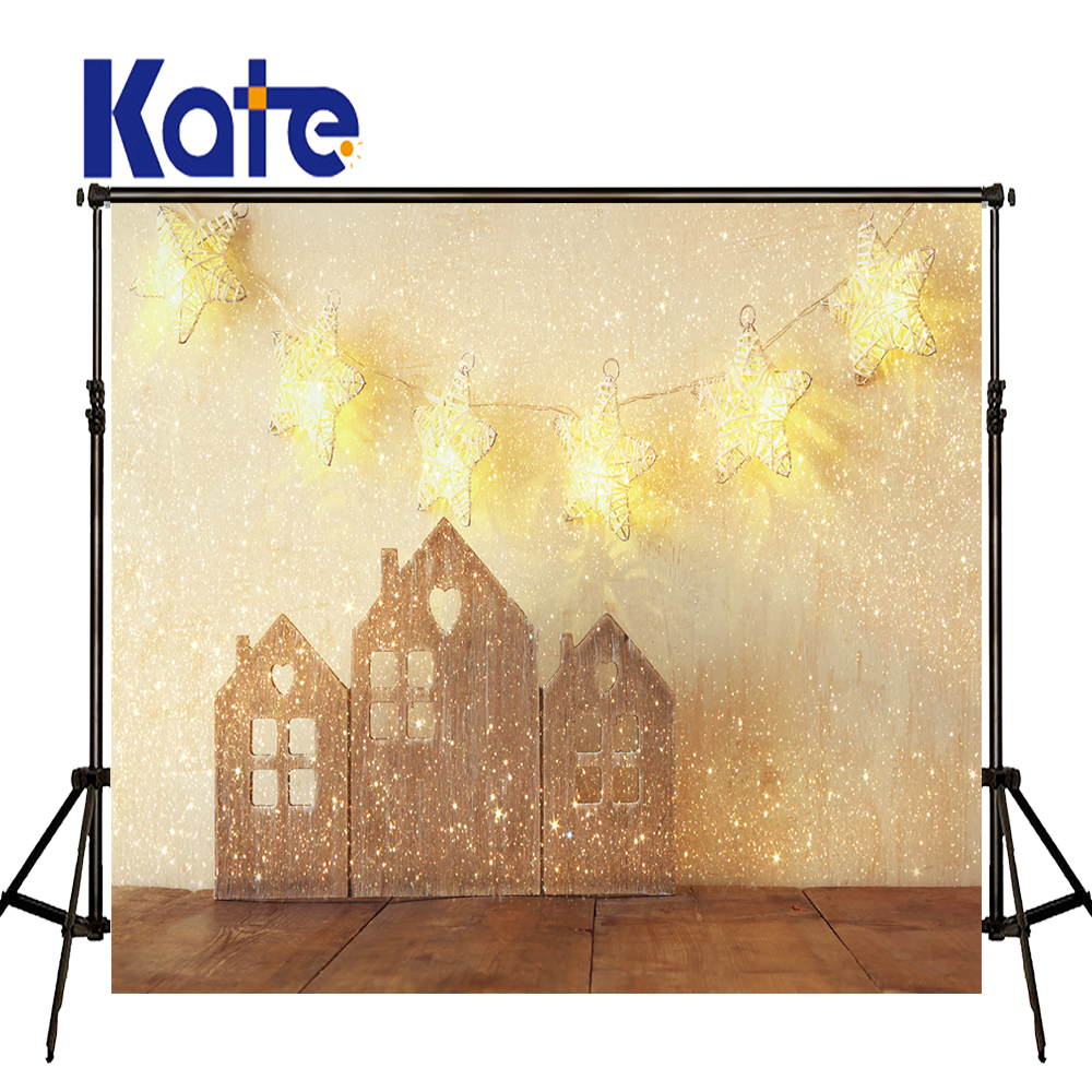 KATE Photography Background Christmas Backdrops Shimmer and Shine Kerst Decoratie Children Brick Wall and Wood Floor Backdrop kate christmas backdrop photography brick wall white bear tree box background white floor for children photo studio background