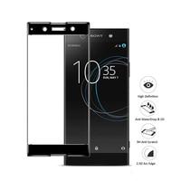 Volle Abdeckung Gehärtetem Glas Für Sony XA1 Plus XA2 fall Screen Protector Für Sony A3 Premium XZ1 Sicherheit Glas x a1