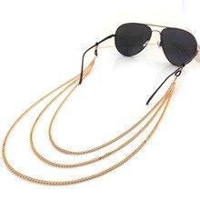 Multilayer Metal Tassel Eyeglasses Chain Glasses Sunglasses Spectacles Holder Neck Strap Chain For W