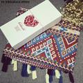 Christmas Gift Women Linen Cotton Soft Fashion Shawl Wrap Long Scarf New Autumn Creative Geometry Winter Echarpe Stole
