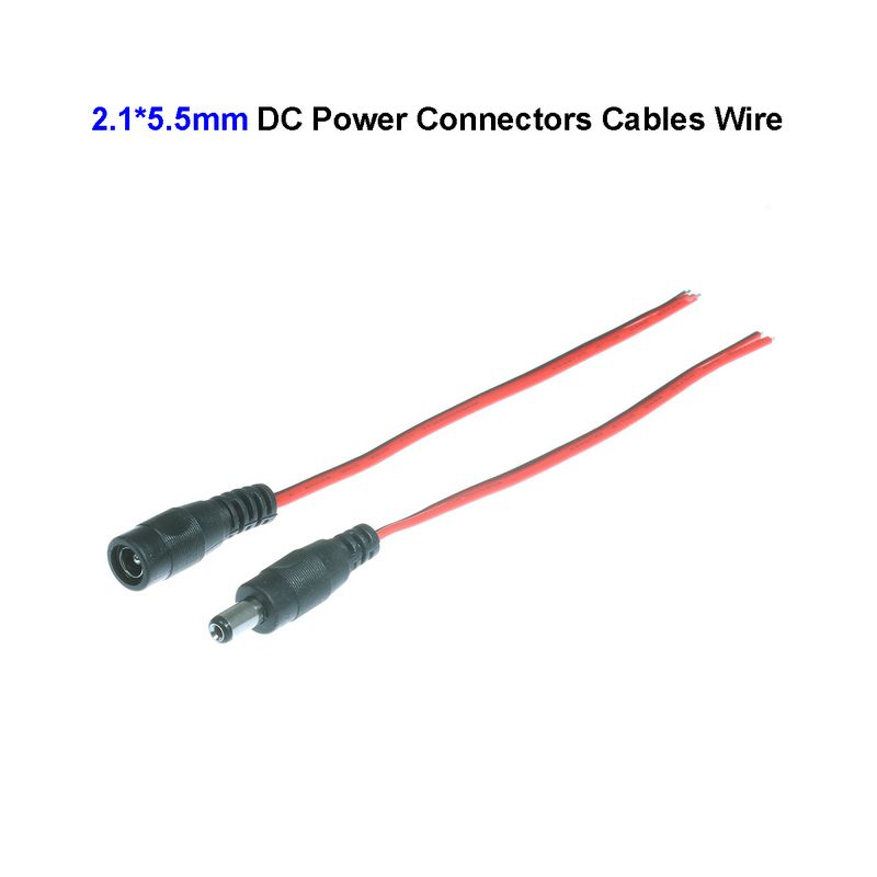 compare prices on dc power jack wiring online shopping buy low 200pcs new 5 5 2 1mm female male dc power connectors cables wire plug jack adapter