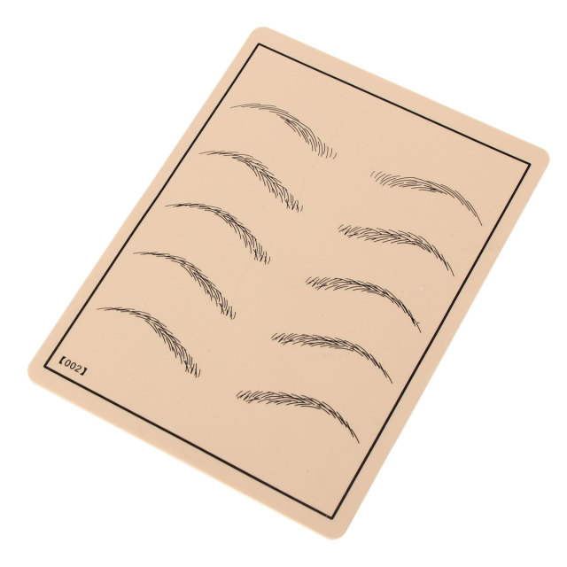 1Pcs Eyebrow Makeup Pattern Tattoo Practice Skin Silicone Rubber Practical Tattoo Trainning Tools