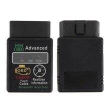 Mini ELM327 V2.1 Bluetooth HH OBD Advanced OBDII OBD2 ELM 327 Auto Car Diagnostic Scanner code reader scan tool hot selling#