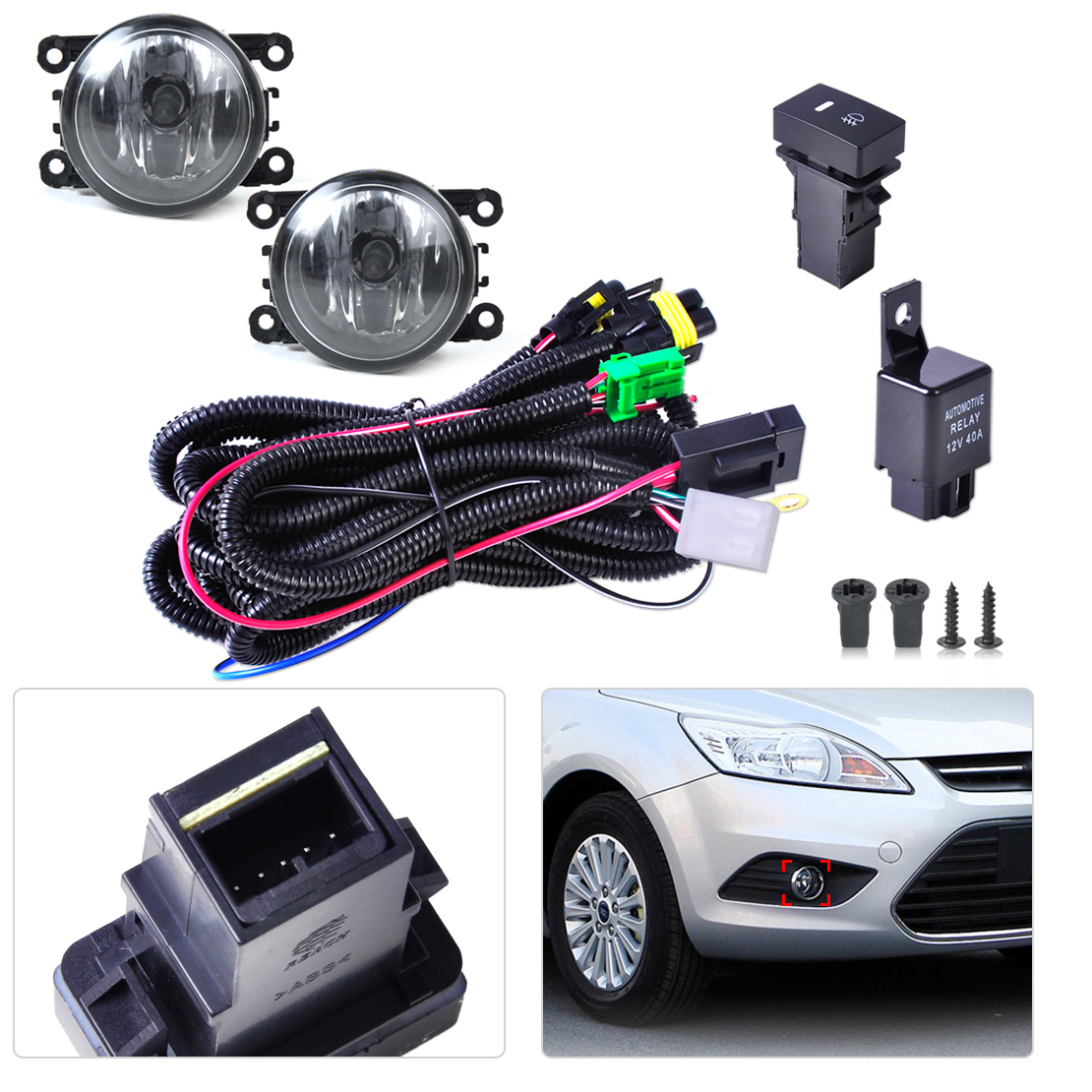 popular mustang harness buy cheap mustang harness lots from china Ford Mustang Wiring Harness new wiring harness sockets switch 2 fog lights h11 lamp 12v 55w 4f9z ford mustang wiring harness
